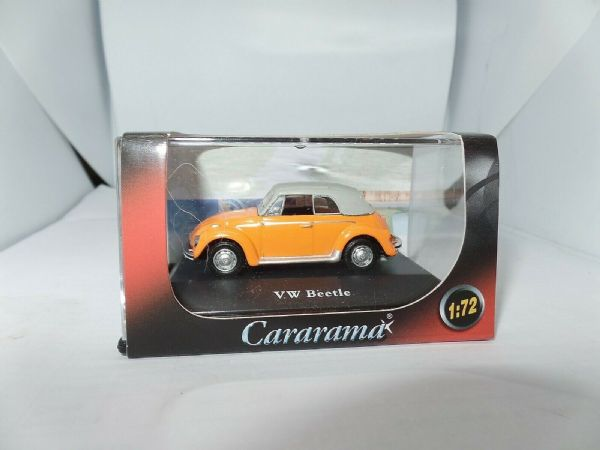 Cararama 1/72 Scale Volkswagon VW Beetle Orange Convertable